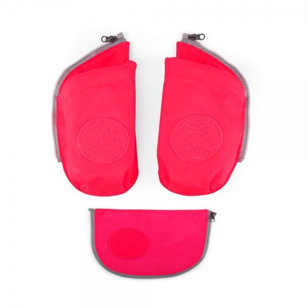 Zugabe Seitentaschen Zip-Set pink