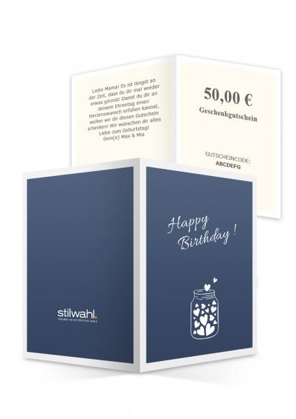Happy Birthday (Gutschein zum Ausdrucken)
