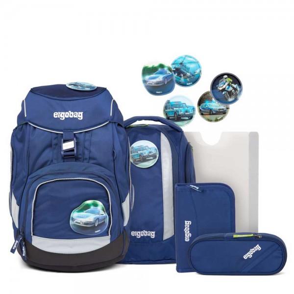 ergobag - Pack Schulranzen SET 6tlg BlaulichtBär in blau