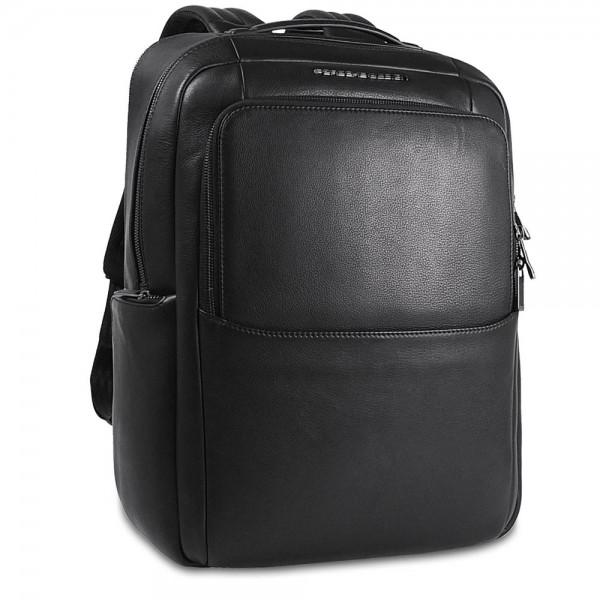 Porsche Design - Roadster Leather Backpack L in schwarz