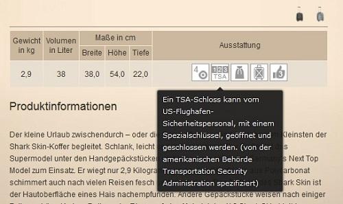 TSA-Schloss-Artilebeschreibung