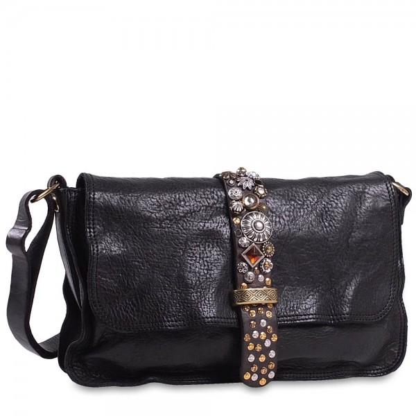 Campomaggi - Diamante Crossbody Bag medium C027630ND in schwarz