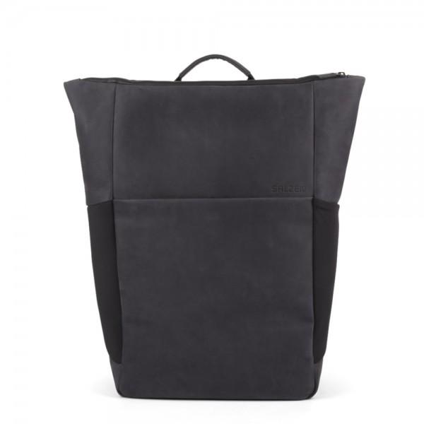 SALZEN - Plain Backpack Leather ZEN-BAP in schwarz